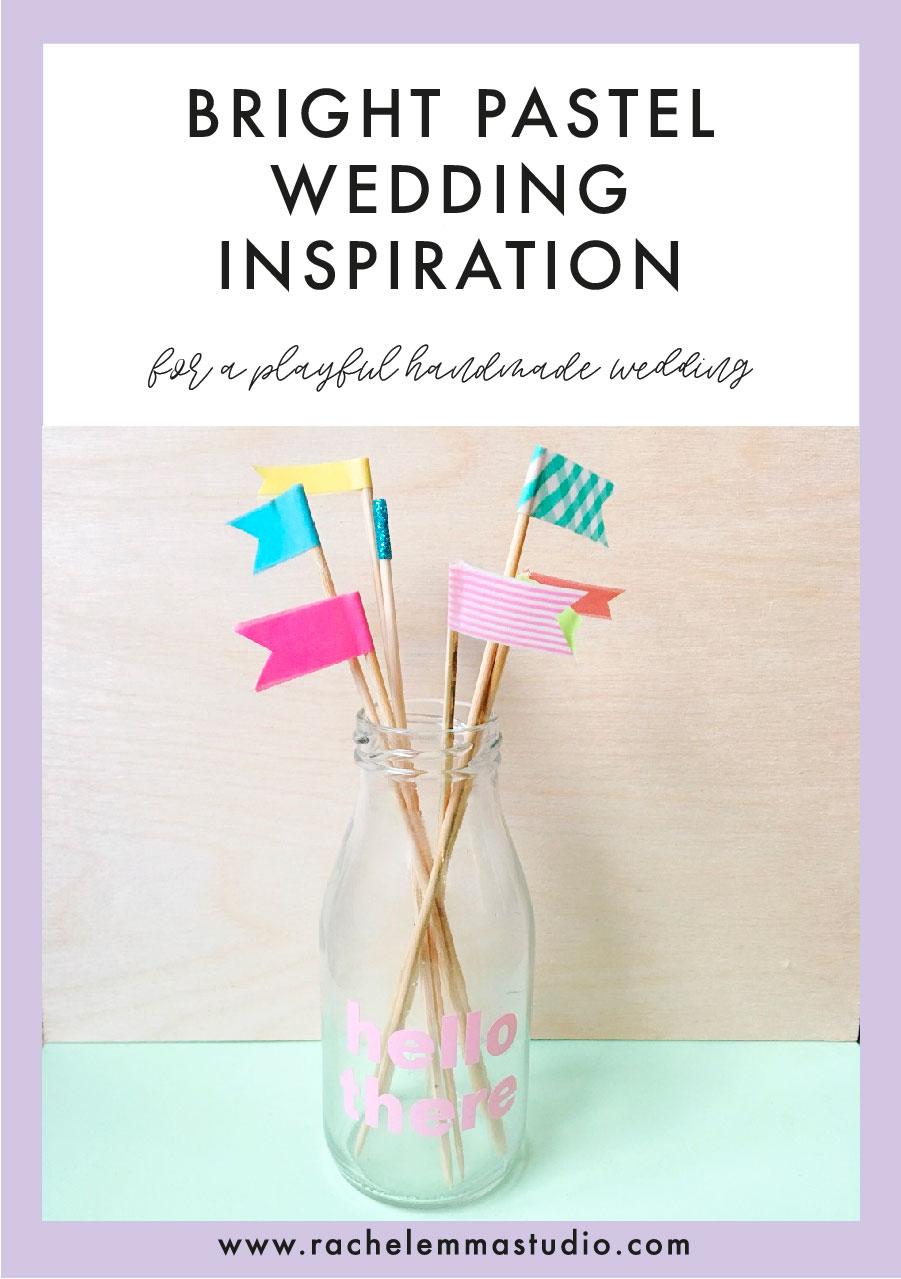 bright pastel wedding inspiration