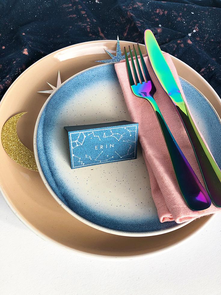 Wedding Table Decor Ideas - a celestial place setting