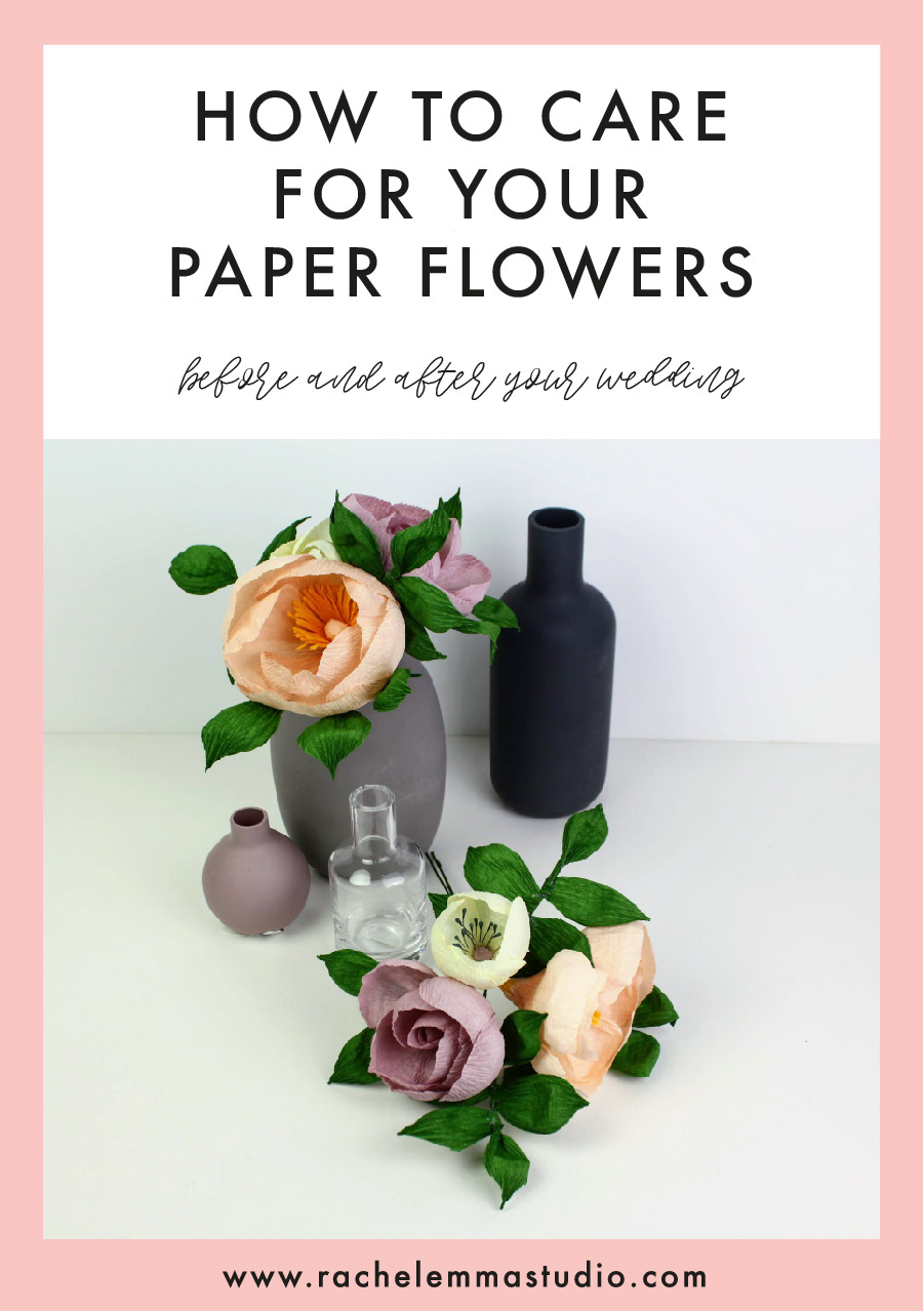 How to look after your paper flowers after your wedding day.