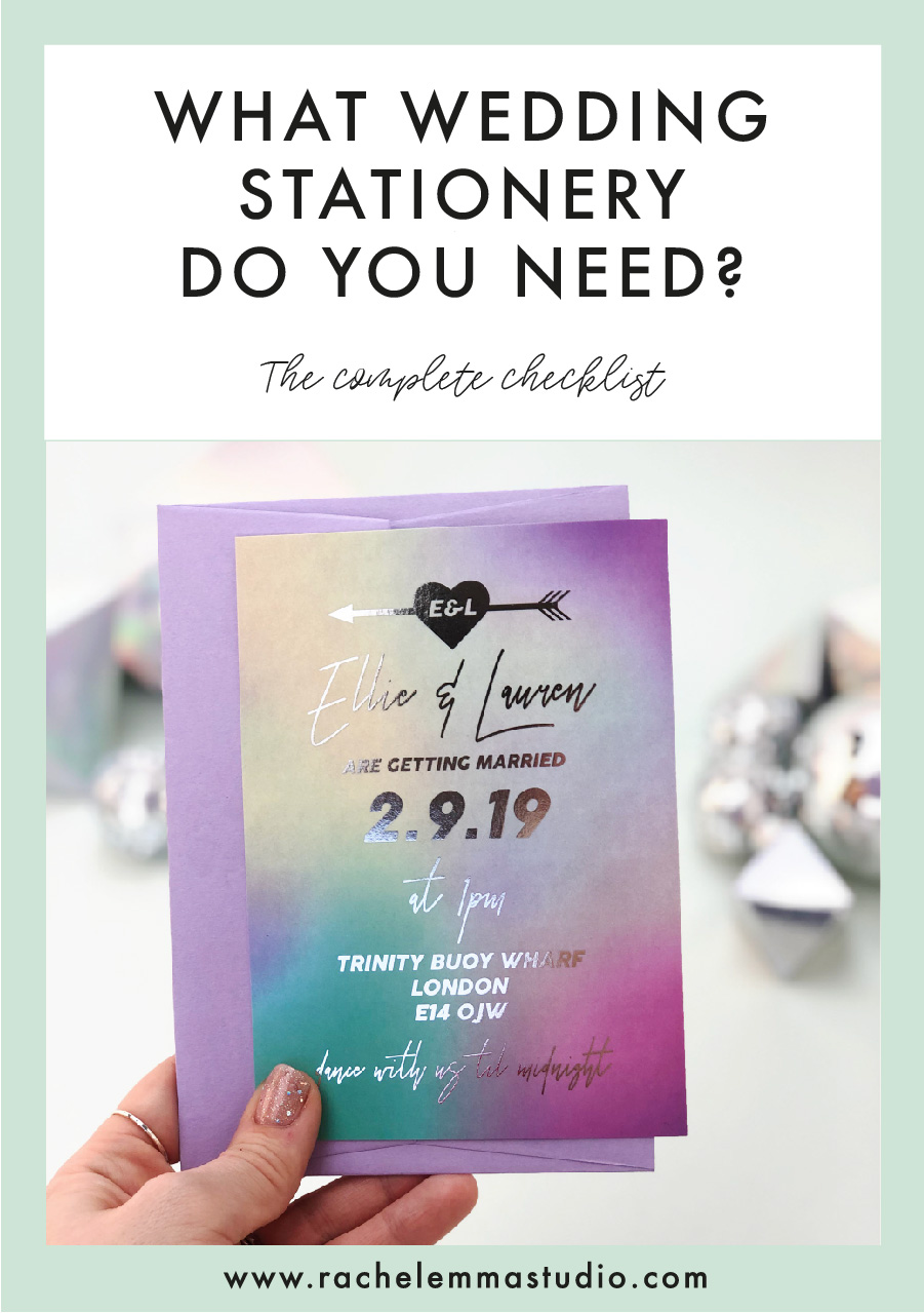What stationery do you need for your wedding?