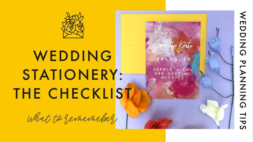 The Ultimate Wedding Stationery Checklist — Rachel Emma