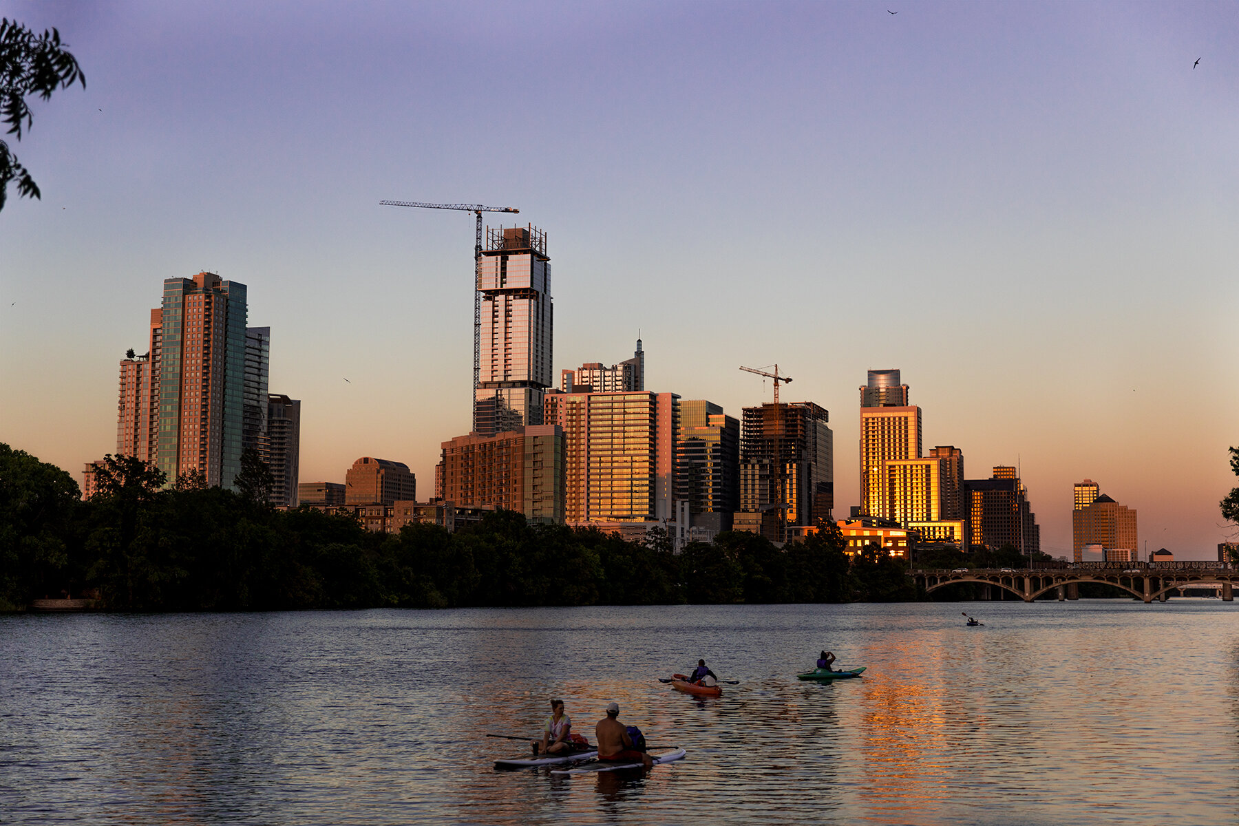 Austin sunset at Fall by @shelbybellaphotography