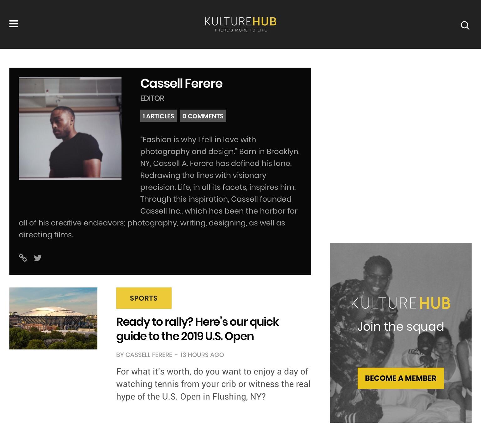Kulture Hub   : Editor