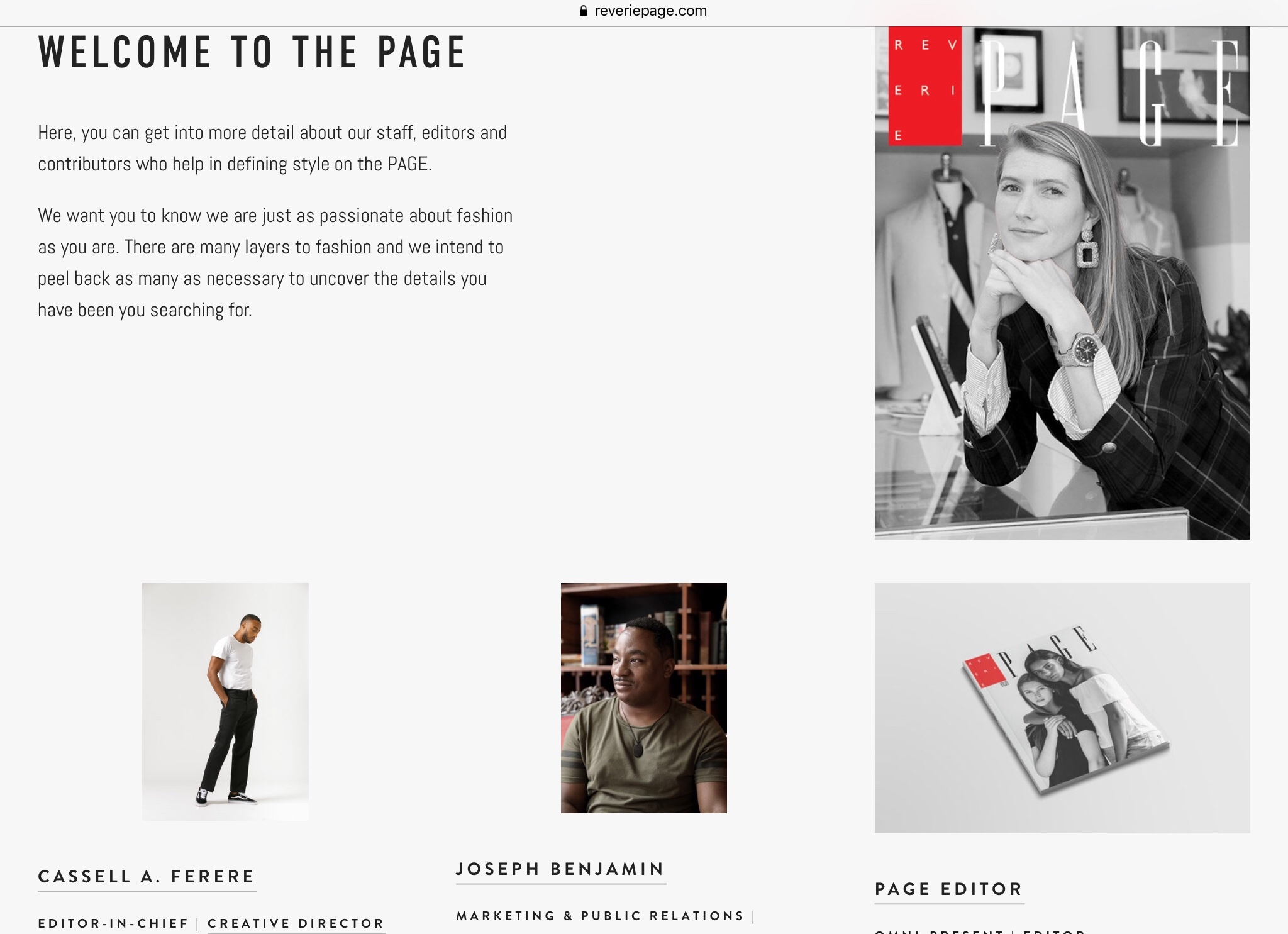 Reverie: PAGE