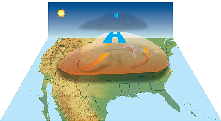 Heat wave illustration (Source: U.S. National Weather Service,  http://www.srh.noaa.gov/jetstream/global/hi.htm )