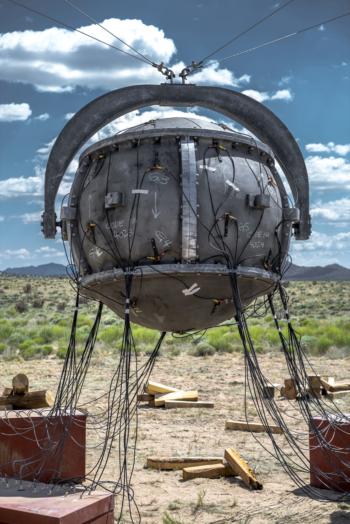 The world's first atomic bomb, which was detonated on July 16, 1945 and dubbed the Trinity Test, brought to life on  Manhattan . (Photo credit: Skydance Media/WGN America)