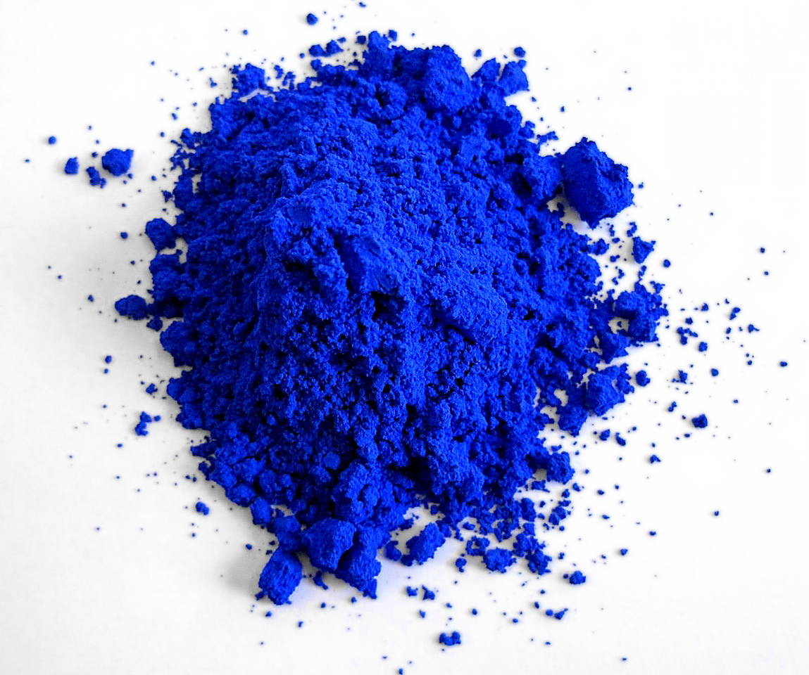 YIn0.8Mn0.2O3, also known as YInMn Blue, is the first new blue pigment in over 200 years. Image credit:  Mas Subramanian  licensed under  CC BY-SA 4.0 .