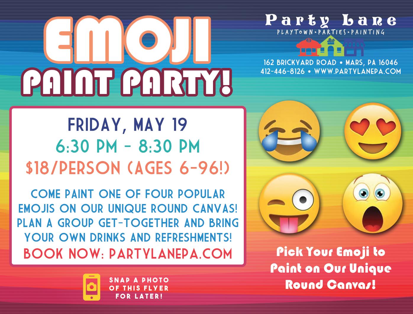 Emoji Paint Party