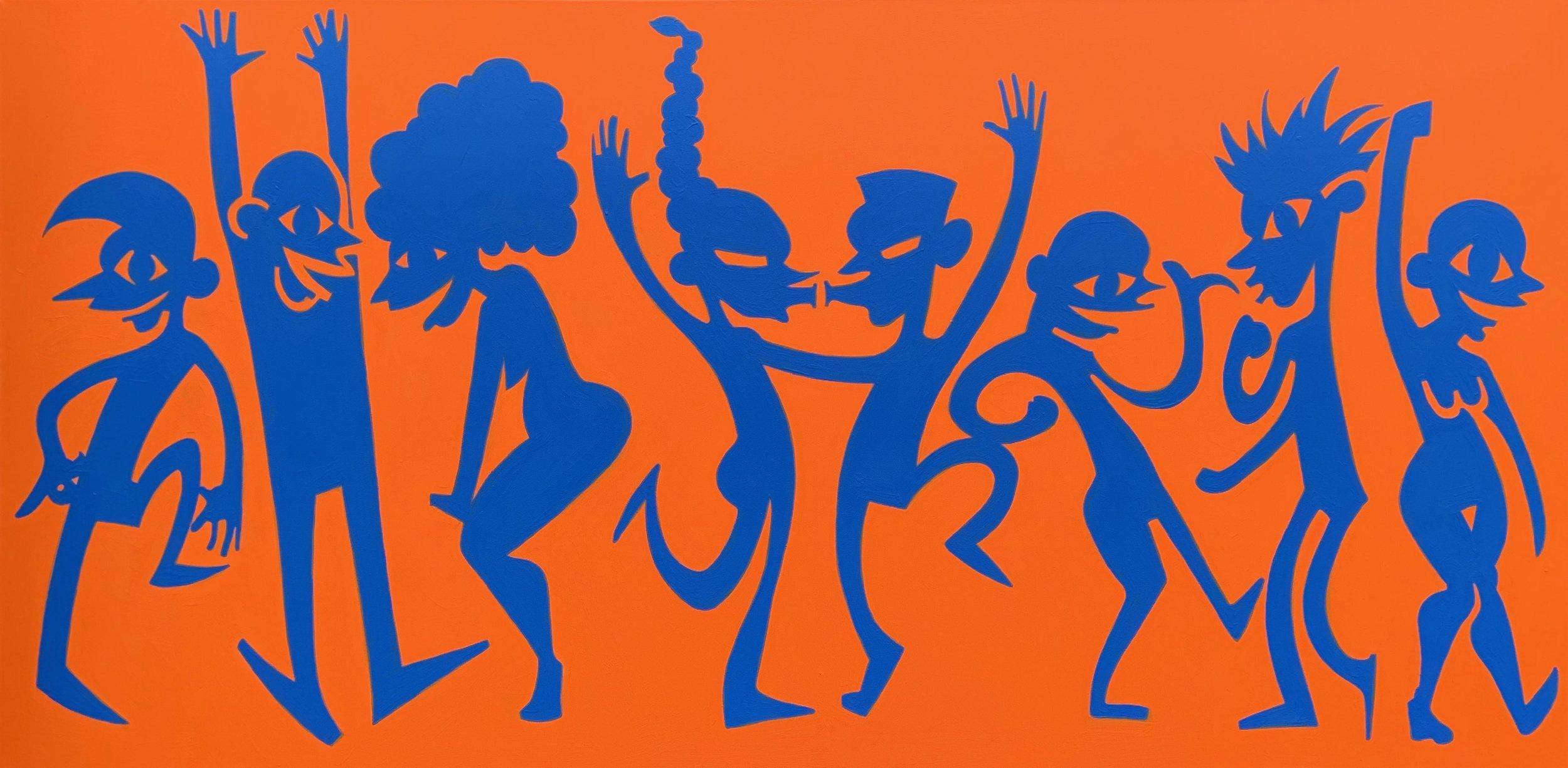 Happy Dance   acrylic on canvas
