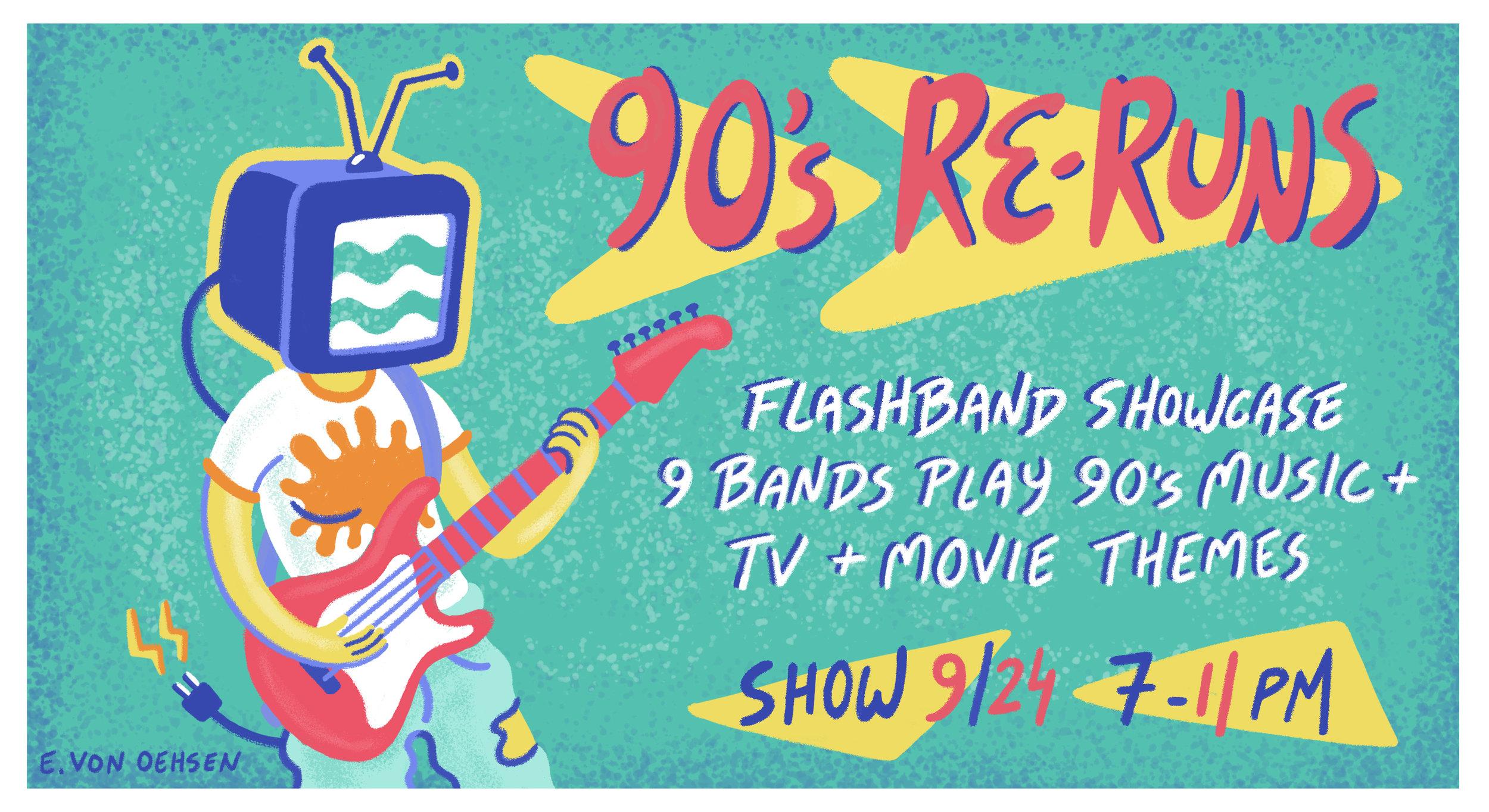 90s Rerun Facebook Banner