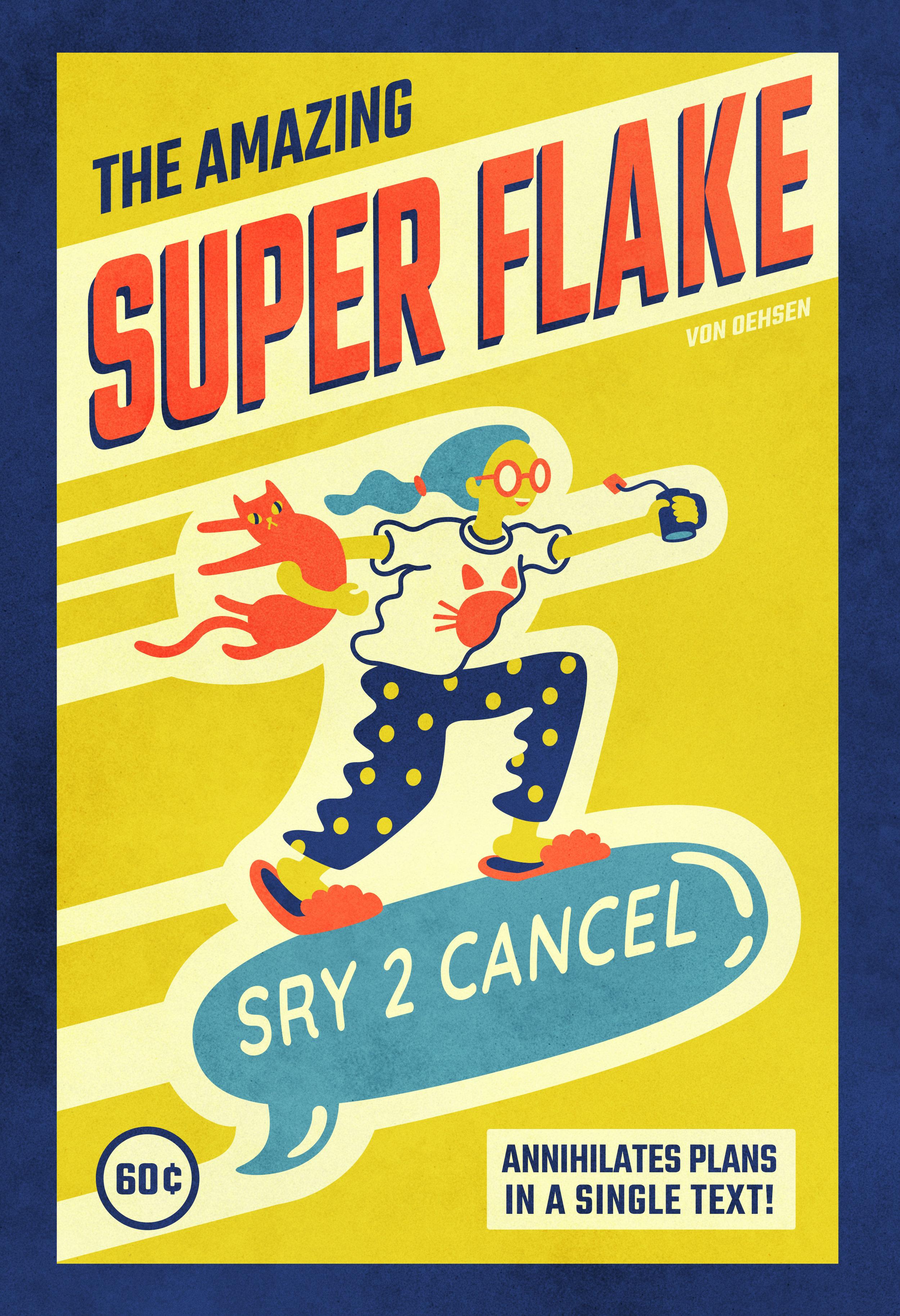 Super Flake Print