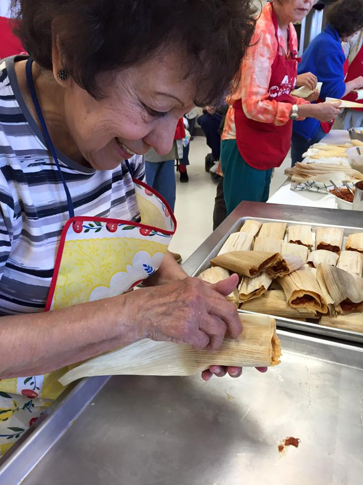 A local resident and home cook demonstrates how to make tamales