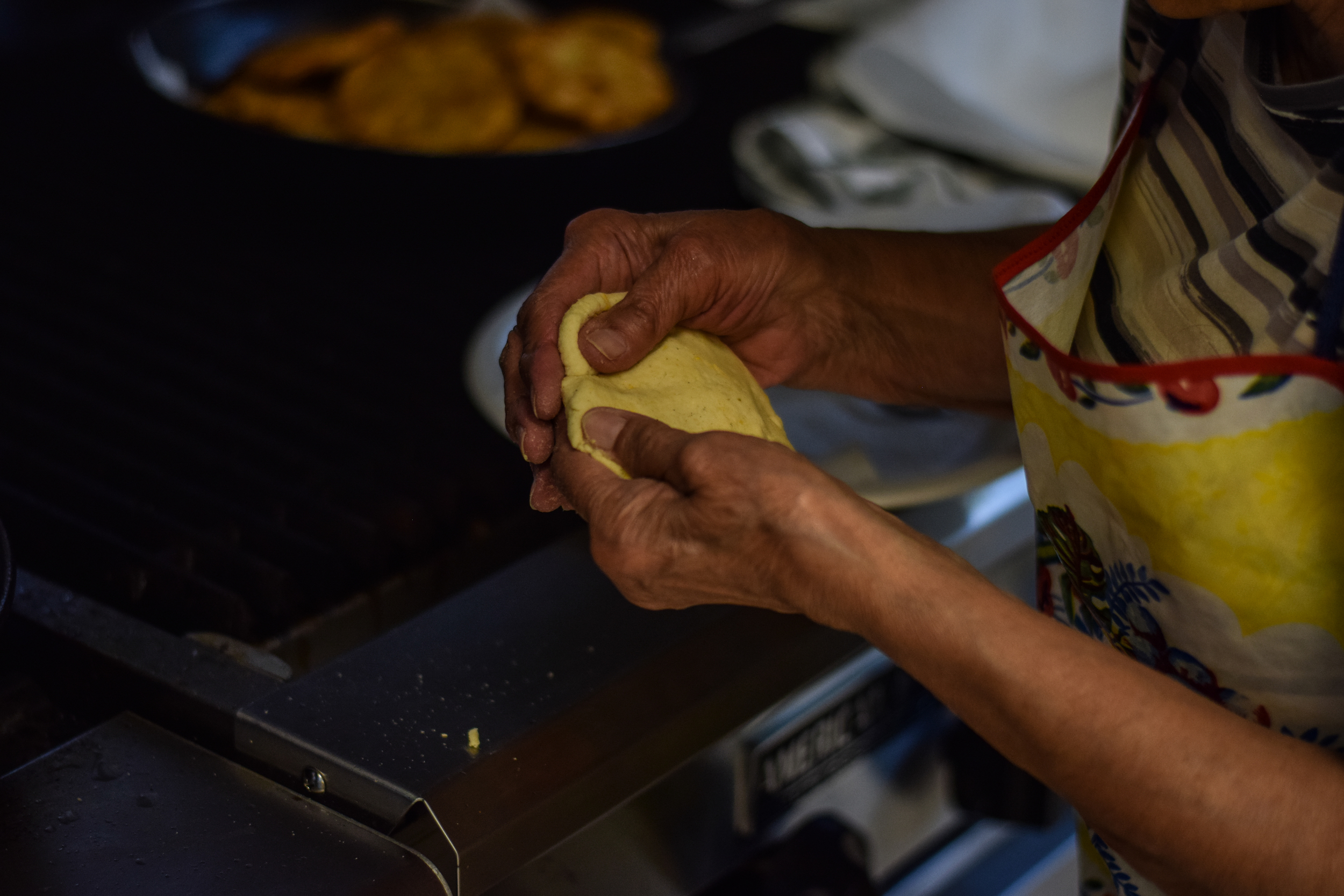 Making enchiladas sonorenses, a local specialty