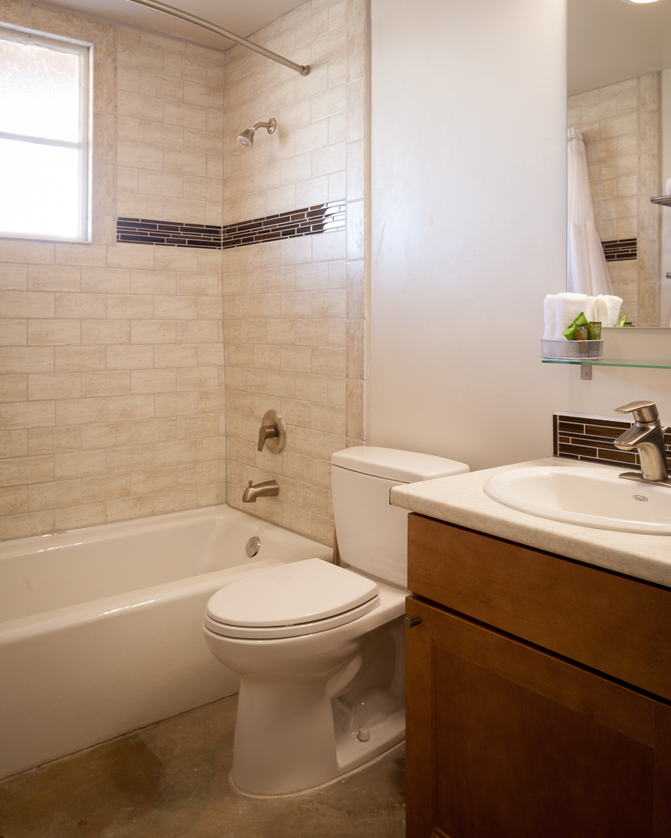 Each room has a full bath