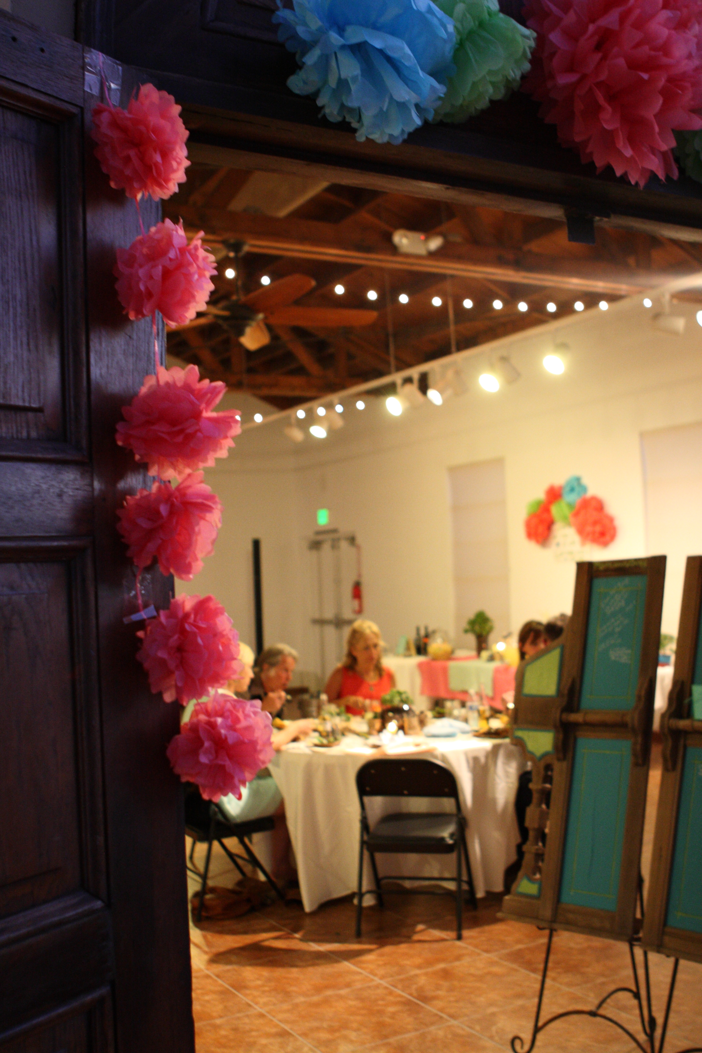 A peek inside a wedding reception at The Learning Center