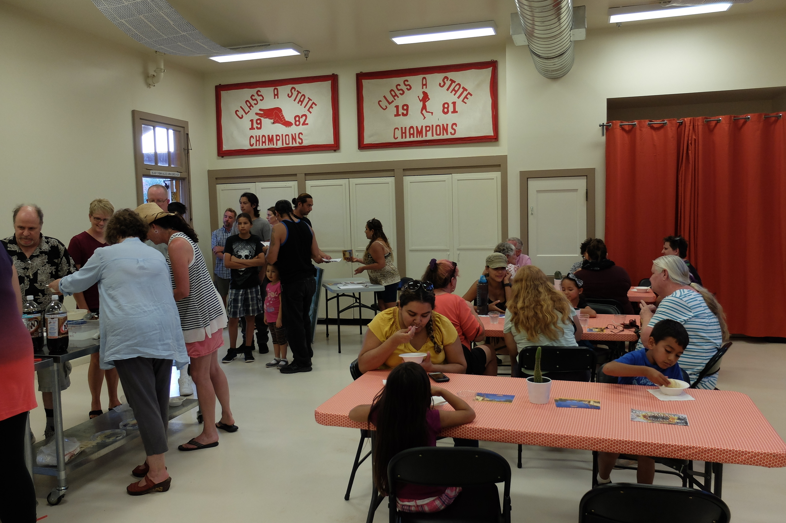 An ice cream social in the Palo Verde Room