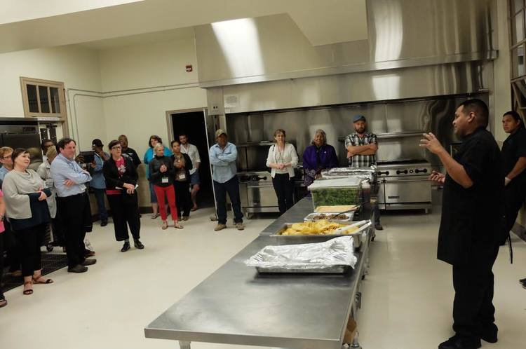 Brian Hendricks of Desert Rain Cafe gives a talk about the traditional Tohono O'odham ingredients in the cafe's dishes.