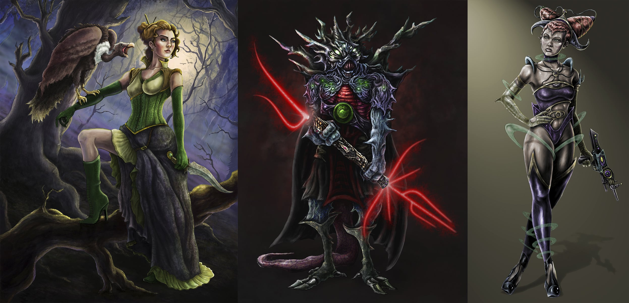 full color character illustration - digital media            $75 without environment  $100 with environment