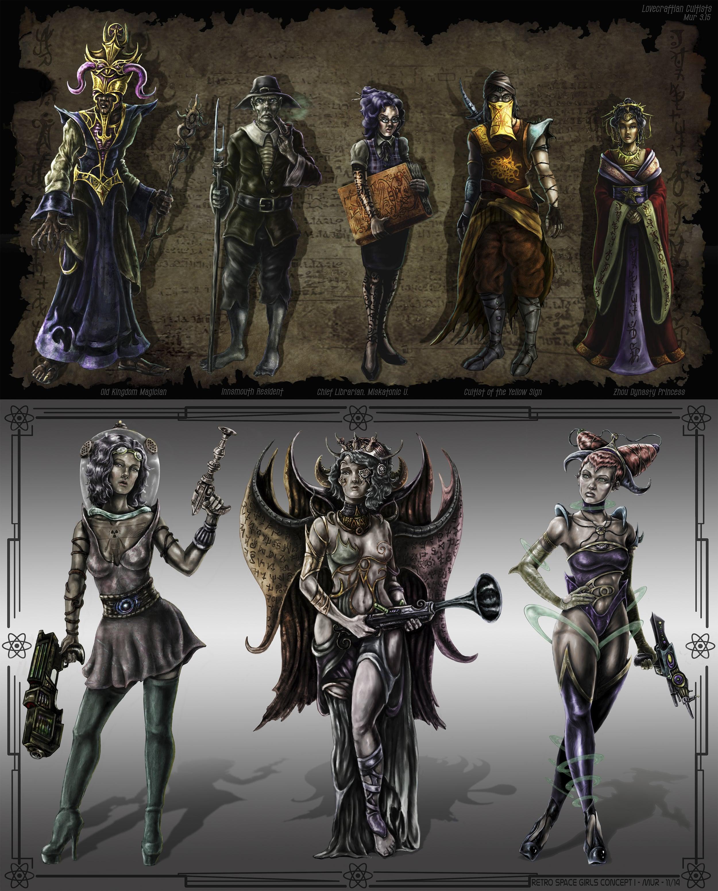 multiple character design - digital media                   $150 - 200