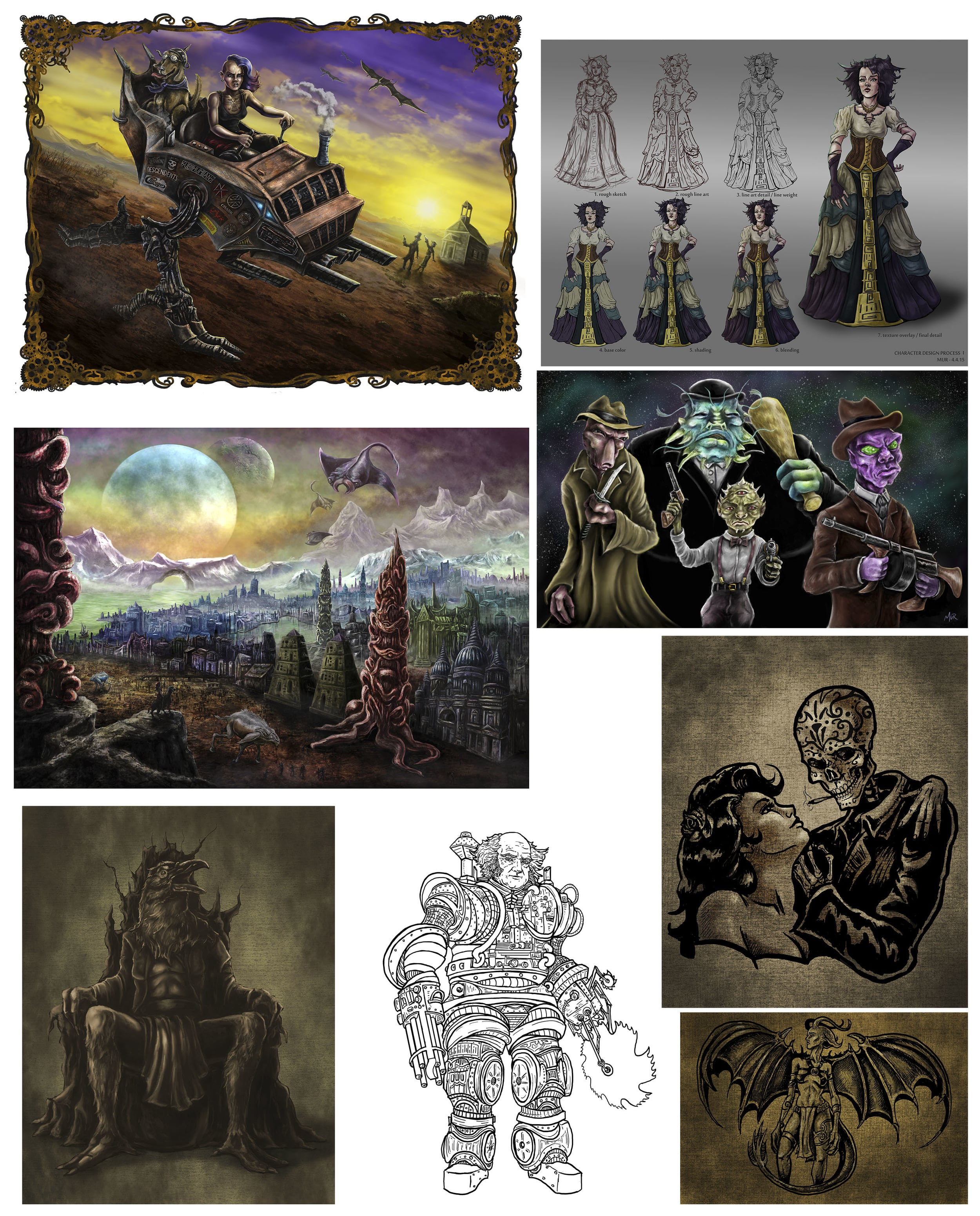 various illustrations                                                  starting at $60