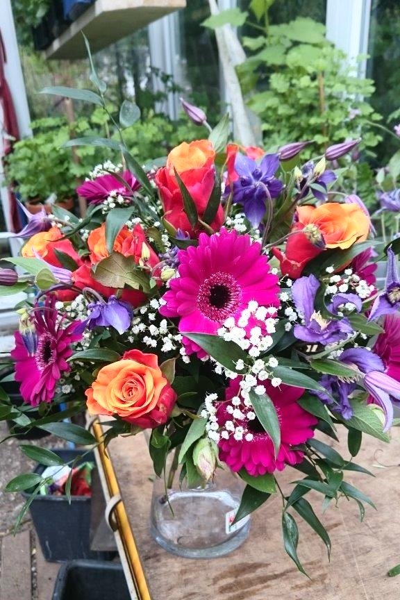 Glückwunschstrauß Rose Germini