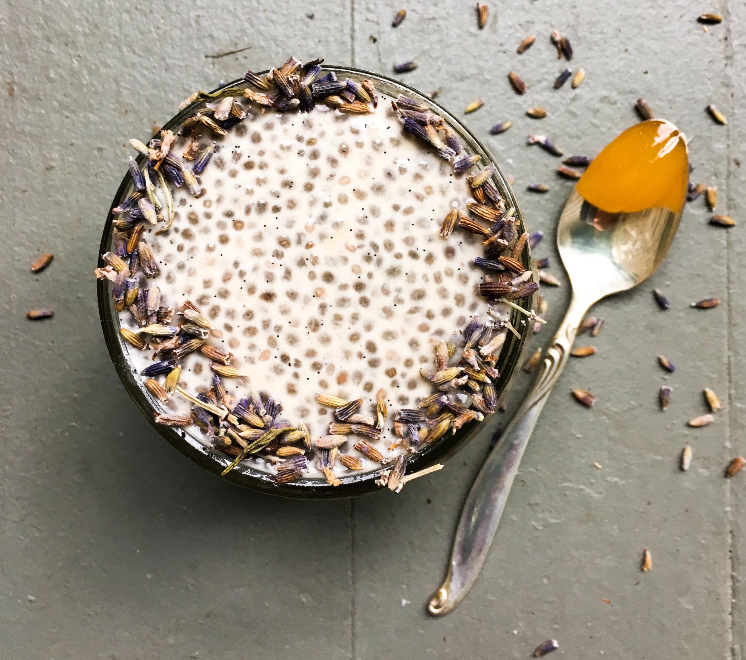 Honey Lavender Chia Seed Pudding