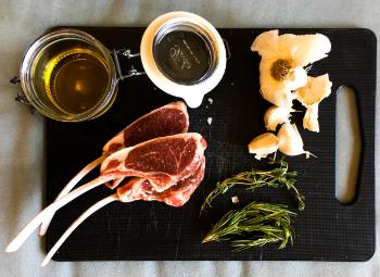 Ingredients for Herb Garlic Rib Chops