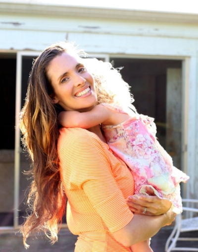 Veronica Lamb with her daughter.