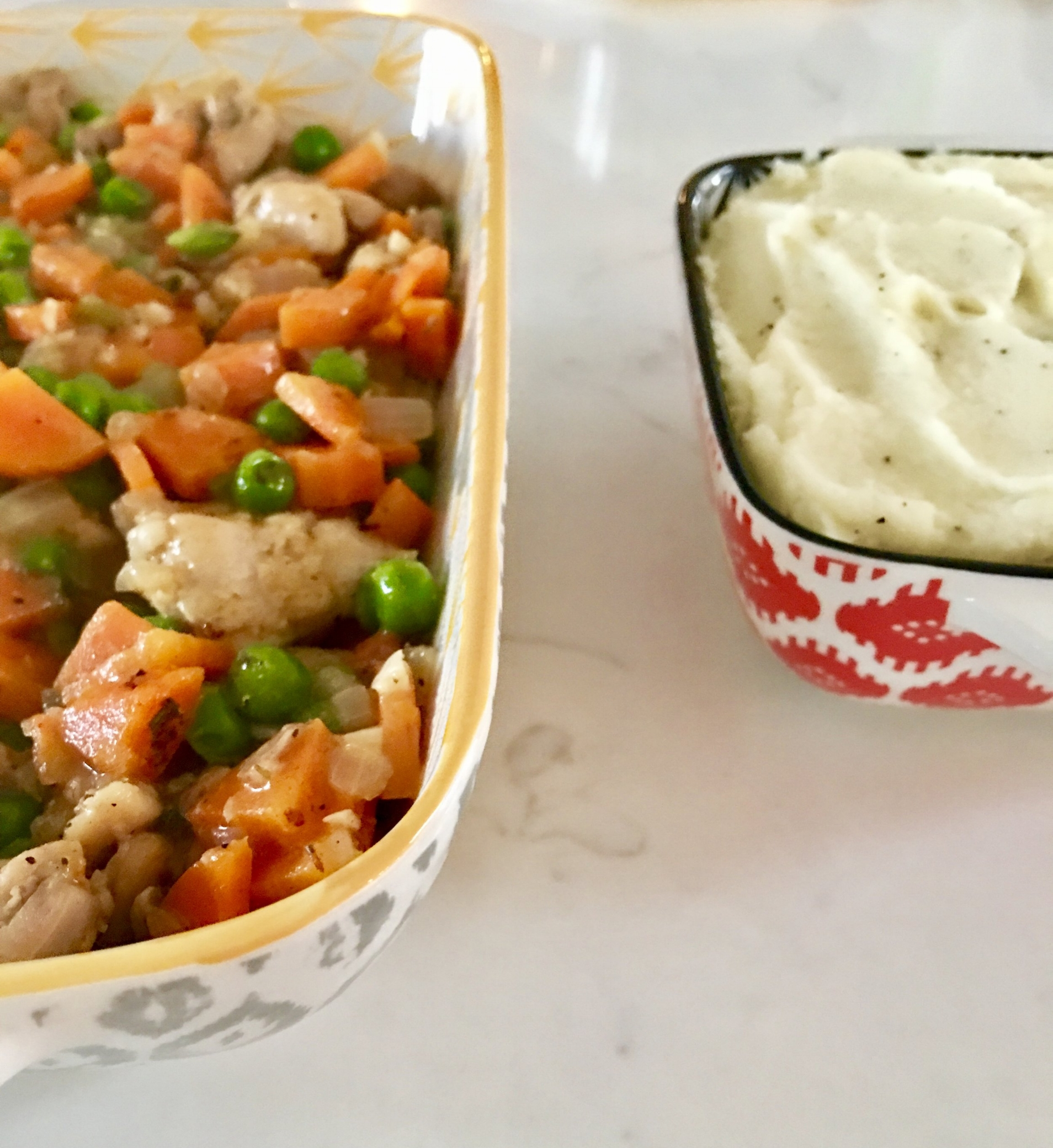 Make it work for you. Assemble in two or three single serving containers, then one larger for dinner, giving you lunches and dinner.