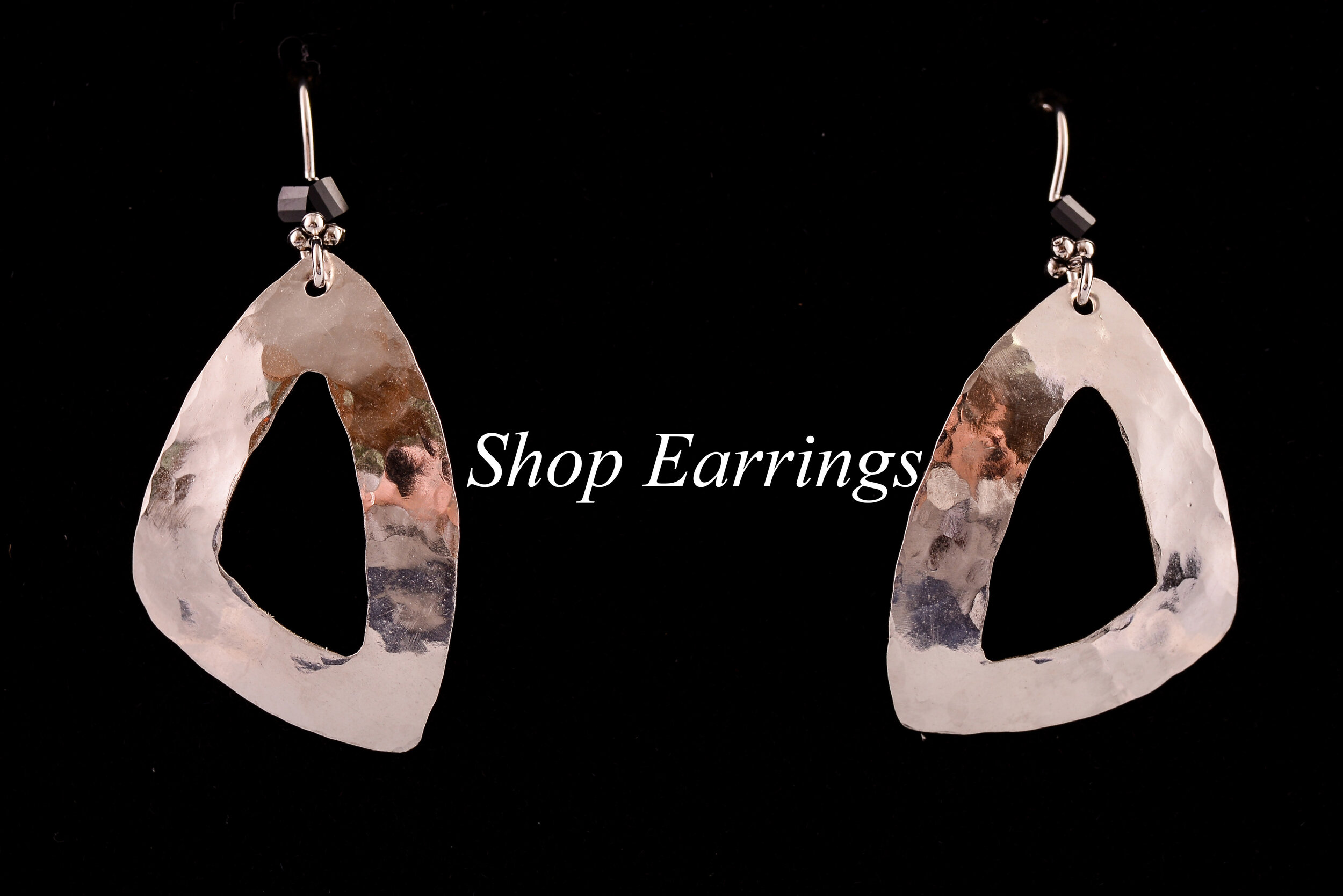 Sterling Sculpted Rounded Open Triangle Earrings Small $45.jpg