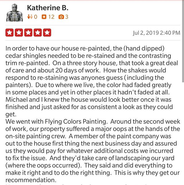 """We are so glad you are happy with the work our team did at your home. Sometimes """"stuff"""" happens, it is great to know that you were taken care of and things were made right!"""