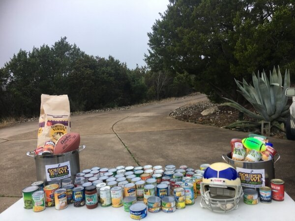Souper Bowl of Caring - The Austin Chapter donated $800 and 291 lbs of canned food for the Central Texas Food Bank during the February 2019 Souper Bowl of Caring.