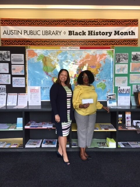 Carver Library w_Dorine Boyd, manager.JPG