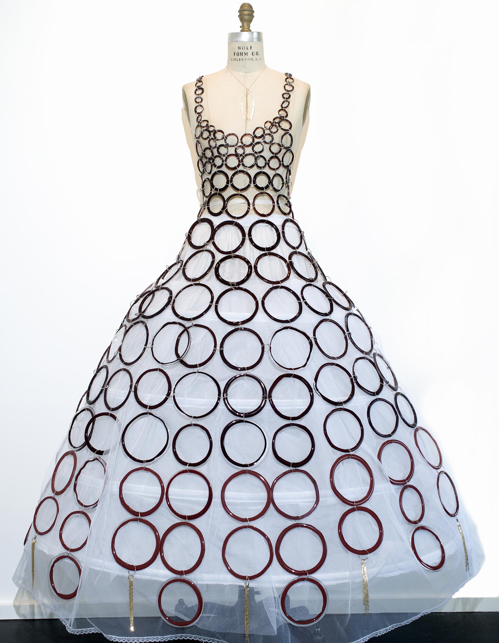 SCULPTURAL GLASS DRESS