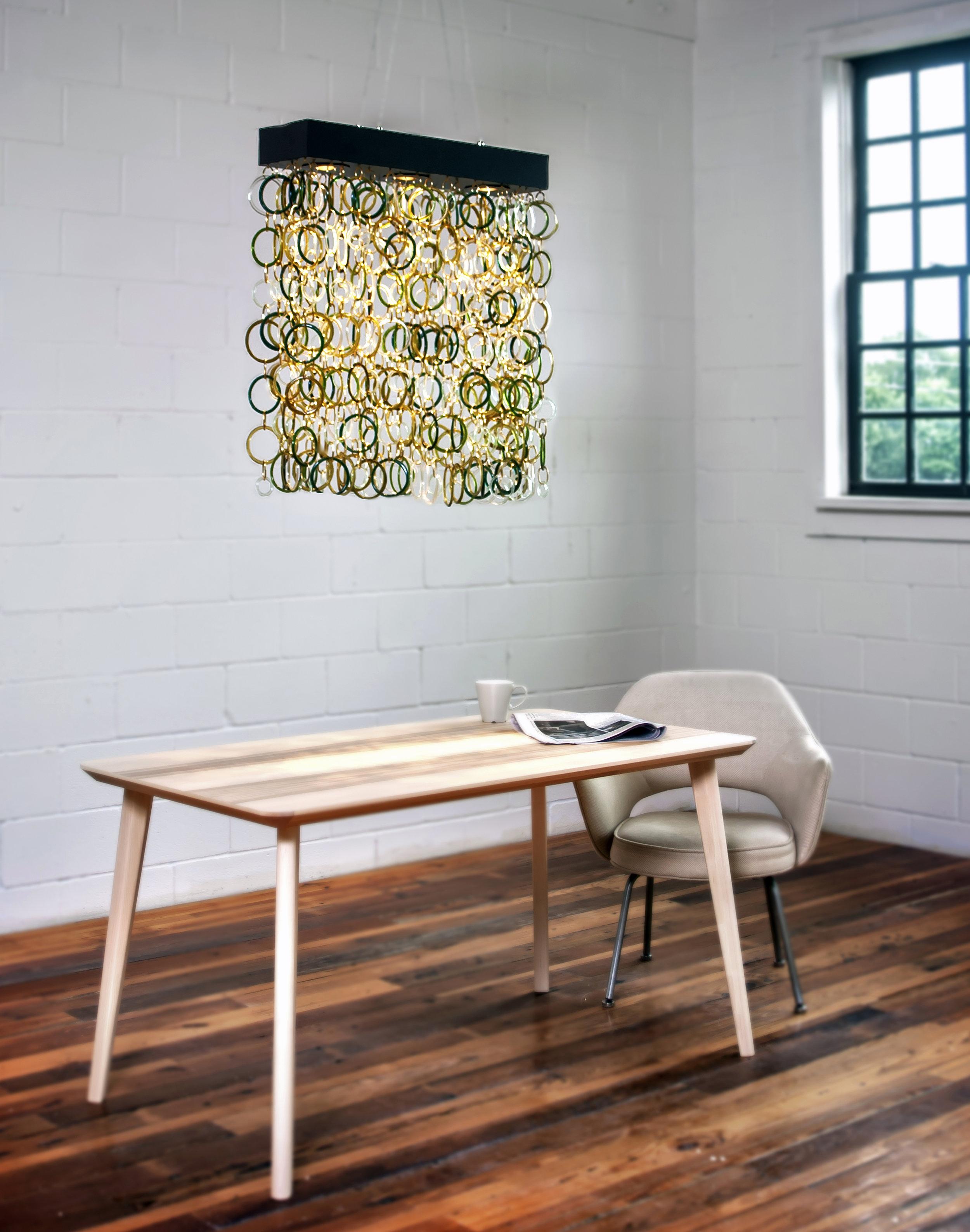 Pictured: Full density,2-foot glass drop, 2-foot dark bronze canopy, wine mix glass.