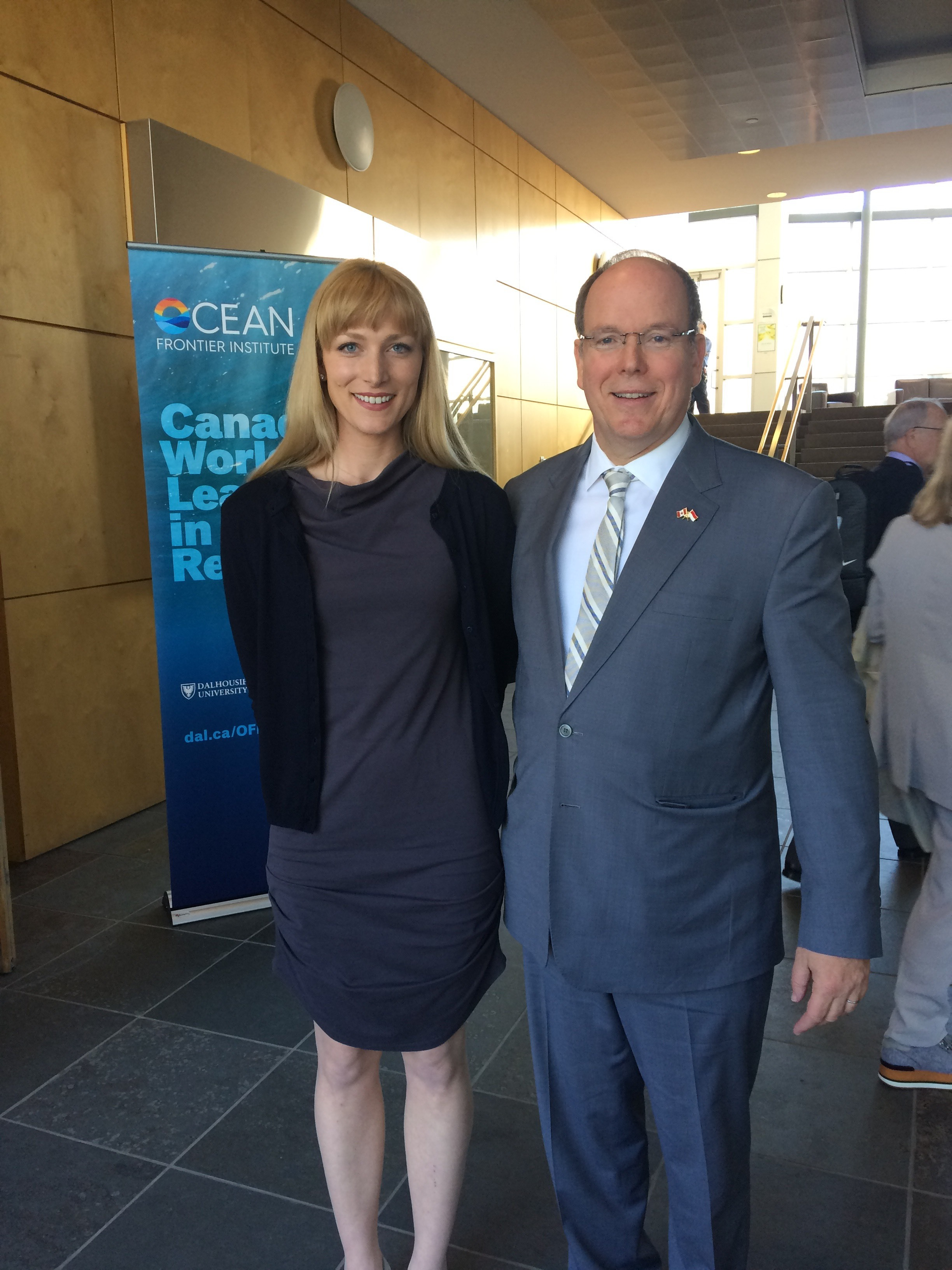 • Meeting HSH Prince Albert of Monaco at the Ocean Frontier Institute's event: An Ocean of Opportunities Q&A - May 2018 -