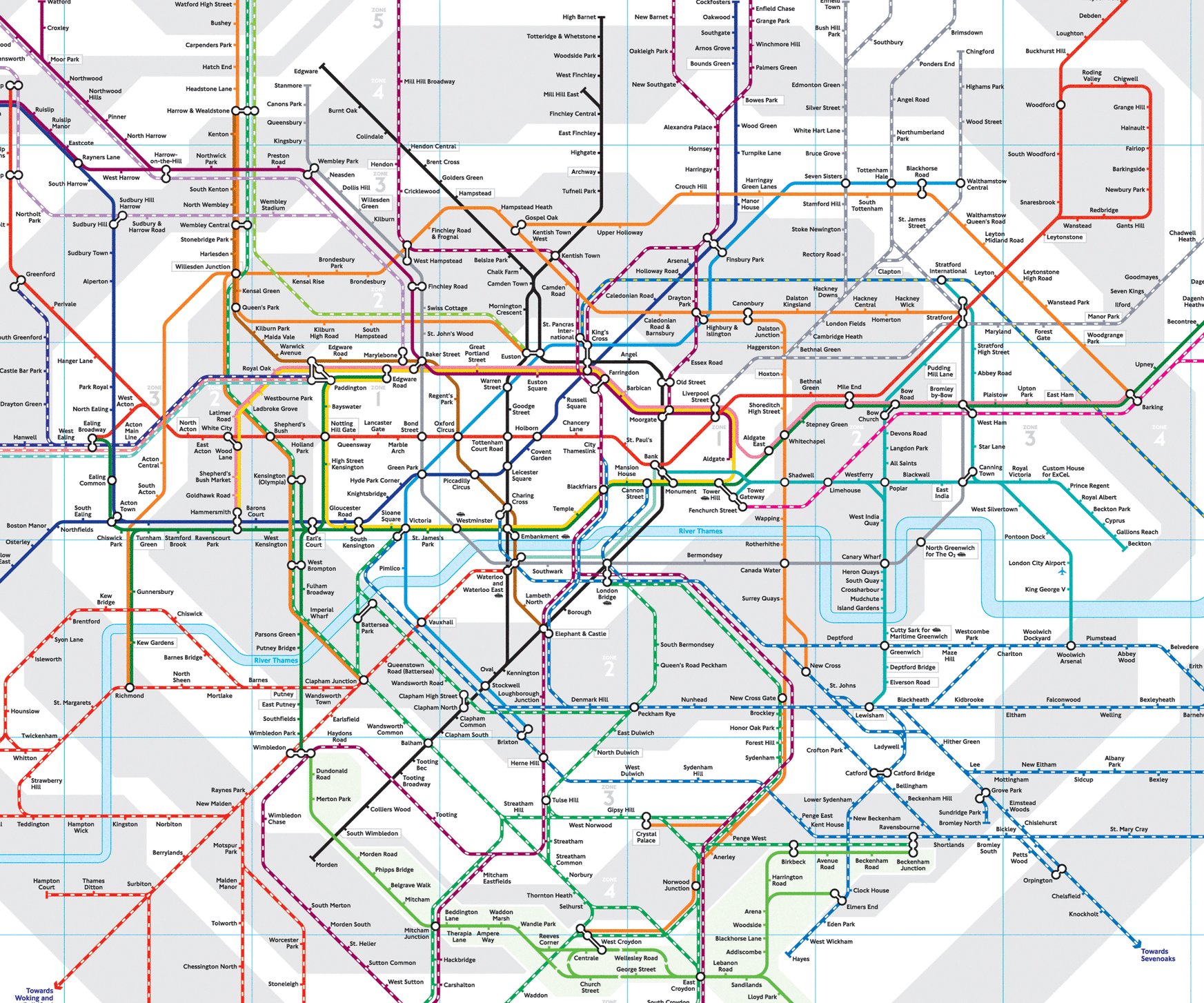 This map won't help you get to the rehearsal dinner, but it might help you get around London.