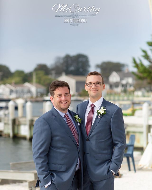 Congrats to Andrew & Terrance on an absolutely fantastic wedding day at @falmouthyachtclub Wishing you both a lifetime of love and happiness! #wedding #love #loveislove #capecodwedding #capecodweddingphotographer #falmouth #falmouthwedding #beachwedding #yachtclubwedding