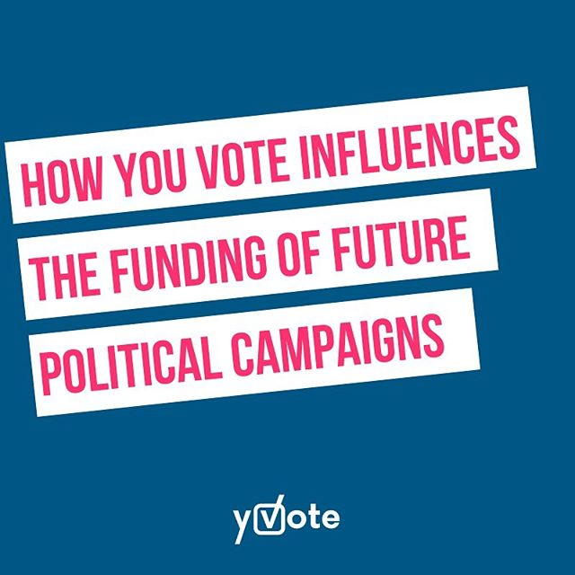 Another little known reason why your vote counts even if you live in a safe seat... ⠀⠀ ⠀⠀ If you live in a safe seat and don't vote because the party you support isn't going to be elected, then you're effectively depriving them of the cash they could use to fund future campaigns. How? ⠀⠀ ⠀⠀ The Australian Electoral Commission distributes approximately $2.60 in campaign funding for every vote received by candidates who get more than 4% of the primary vote. ⠀⠀ ⠀⠀ More info 👉🏽 link in bio or home page of www.yvote.com.au