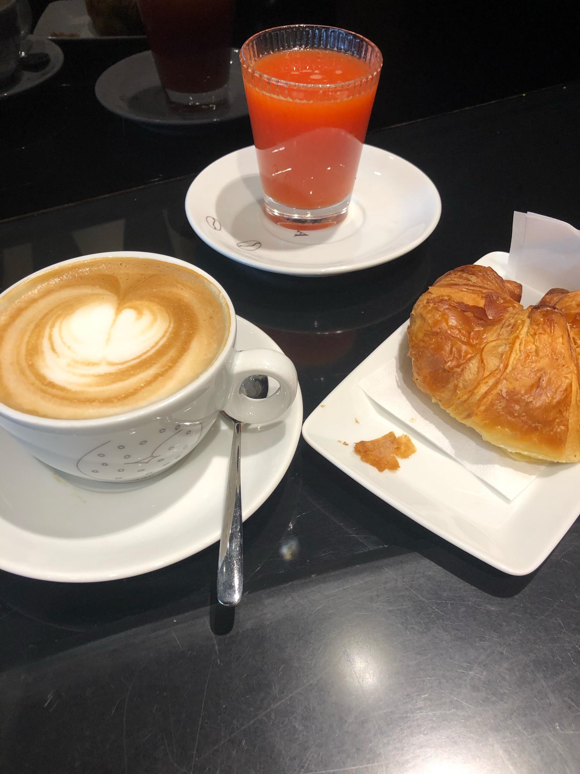 Train station breakfast.