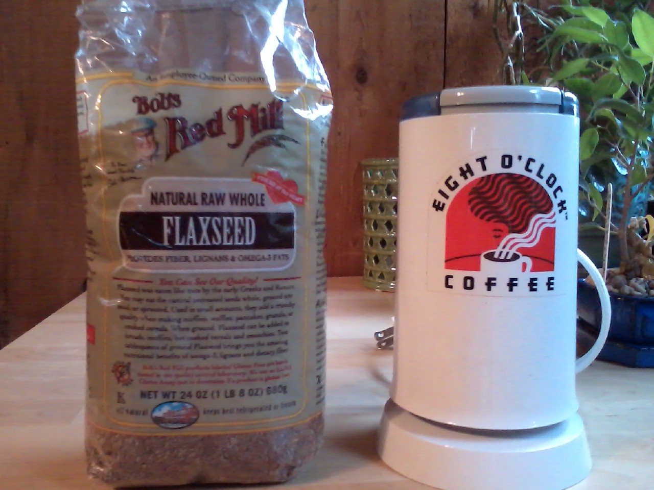 Flaxseed and Grinder