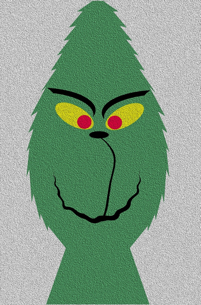 A cute rendition of the Grinch from Pixabay.