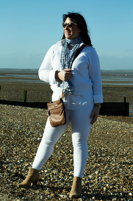 Mummabstylish   White Jeans in Winter?