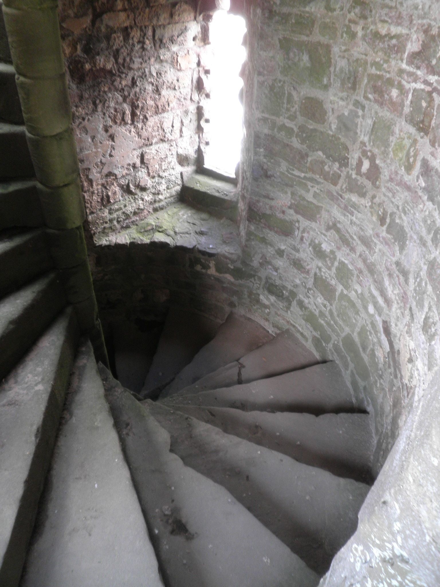 Tower steps - Raglan Castle - Raglan, Wales - Photo by Amy Christensen