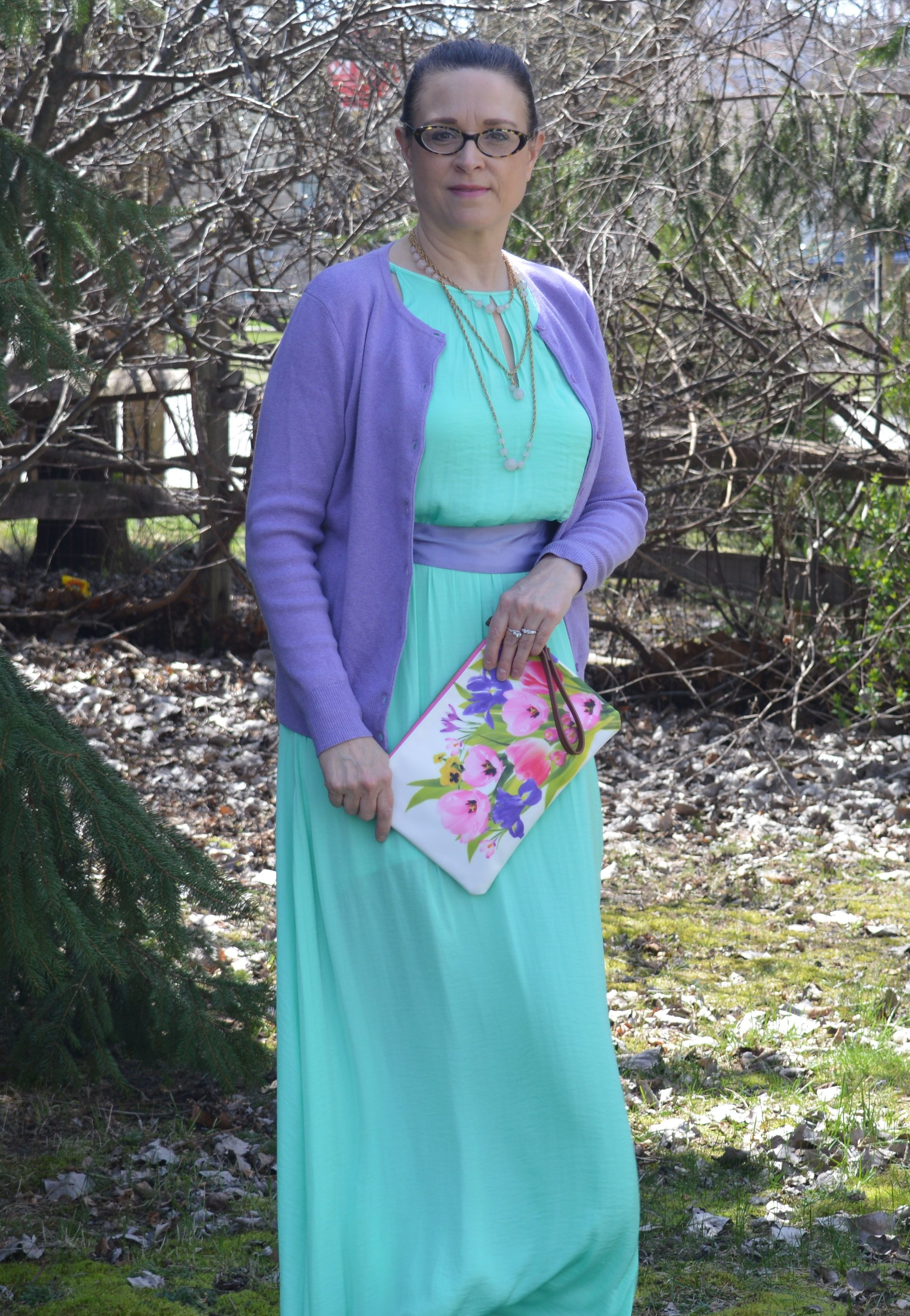 floral bag, easter outfit