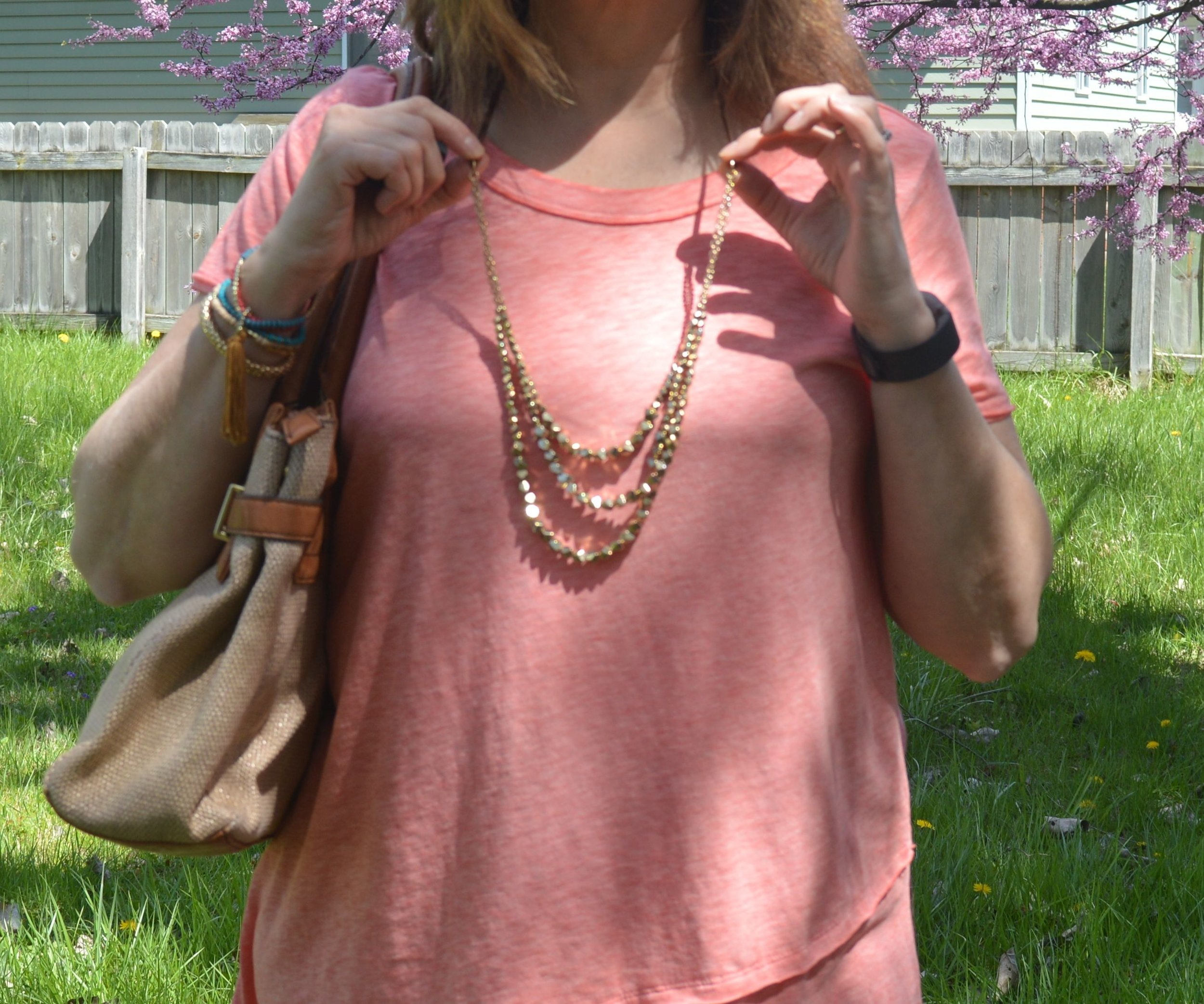 Monochrome outfit - coral hue