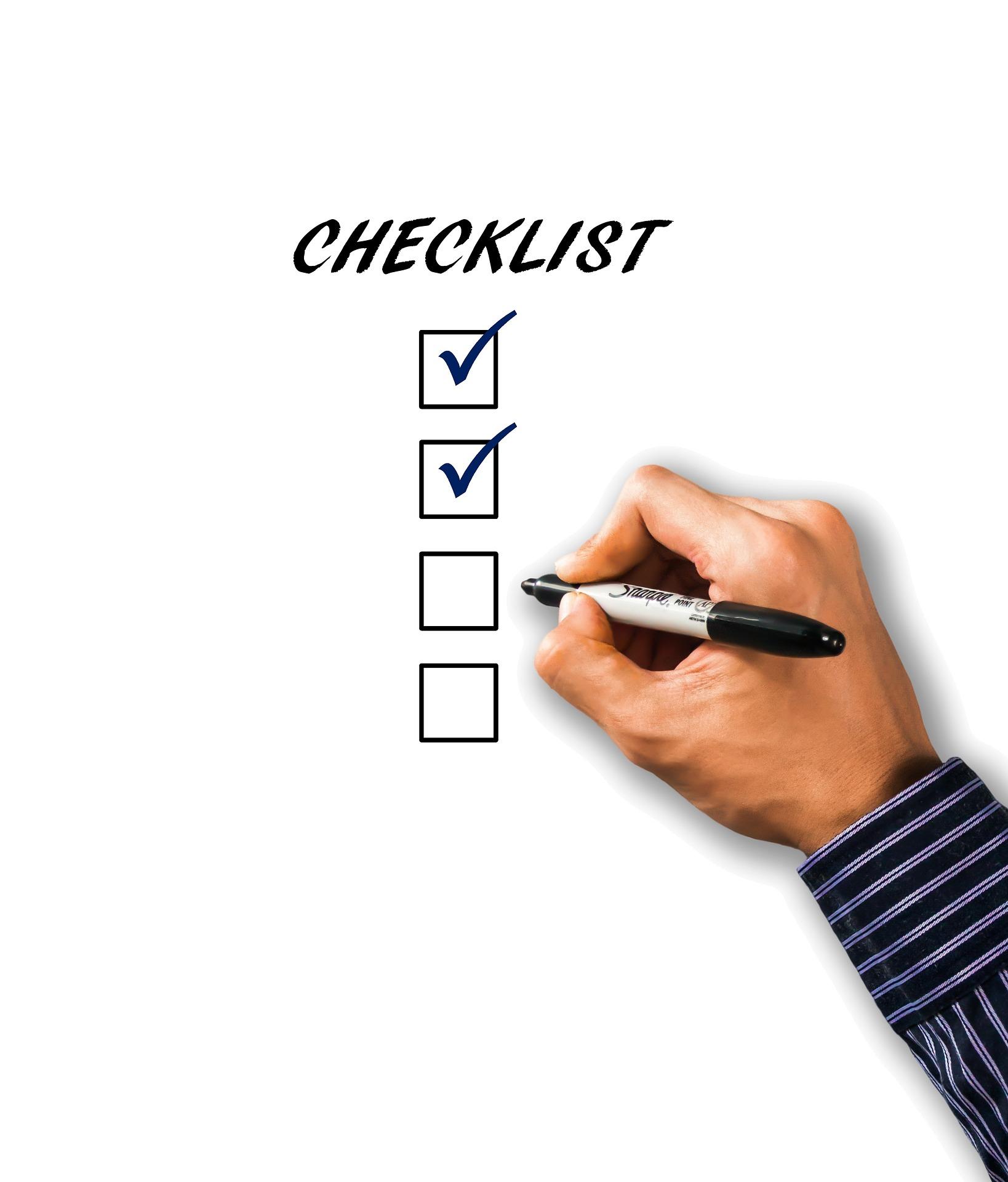 pixabay - check list