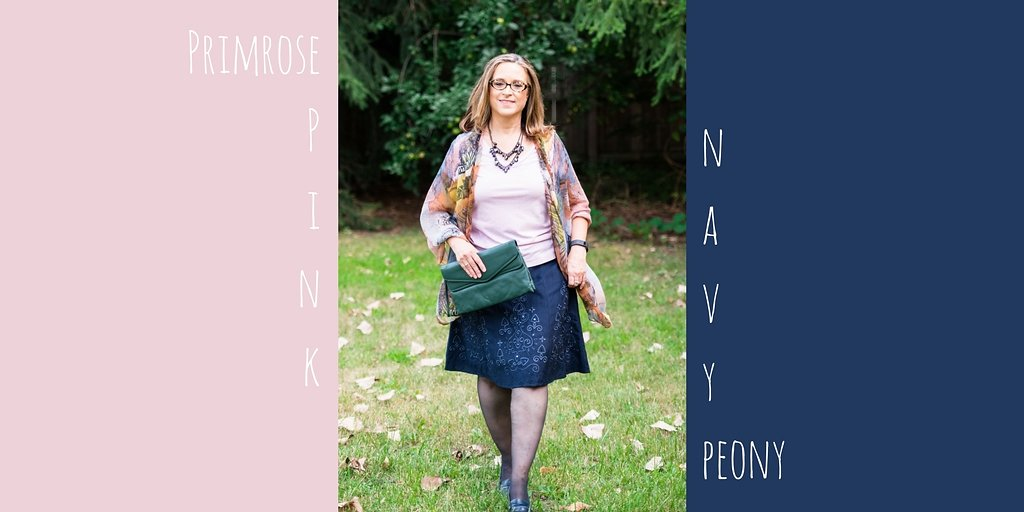 Pantone Fall 2017 - London Palette - navy peony and primrose pink