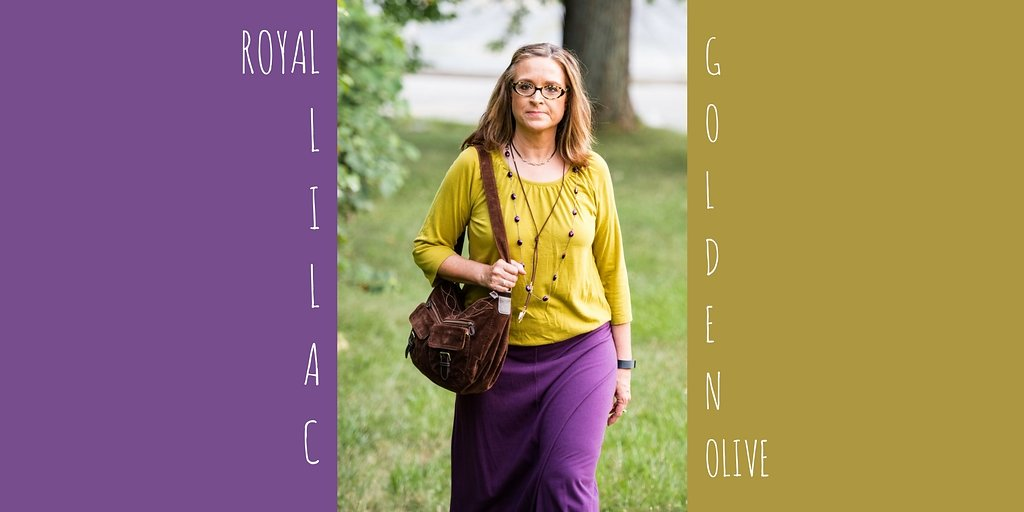 Pantone Fall 2017 - London Palette - Royal Lilac and Golden Olive
