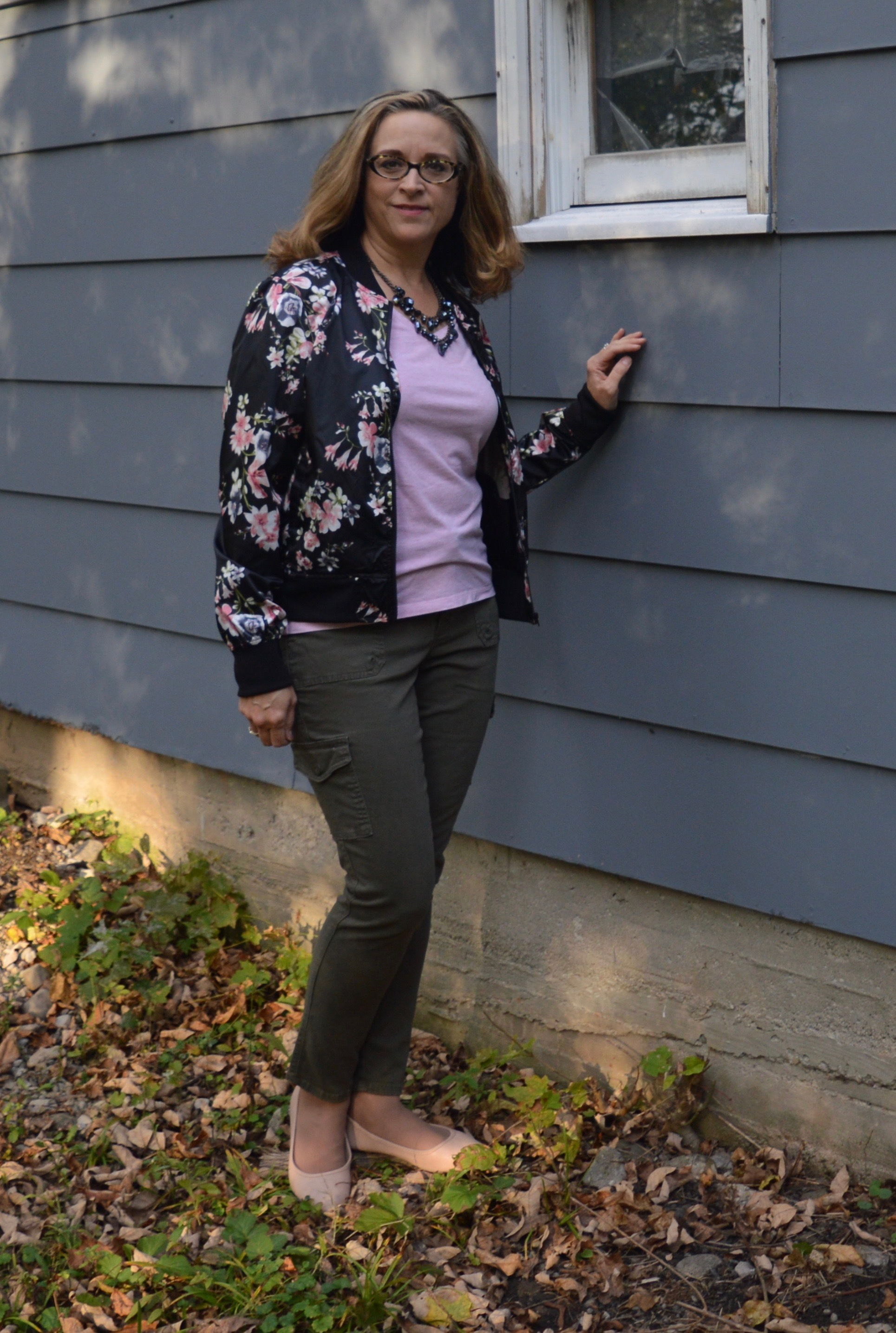 Floral bomber outfit